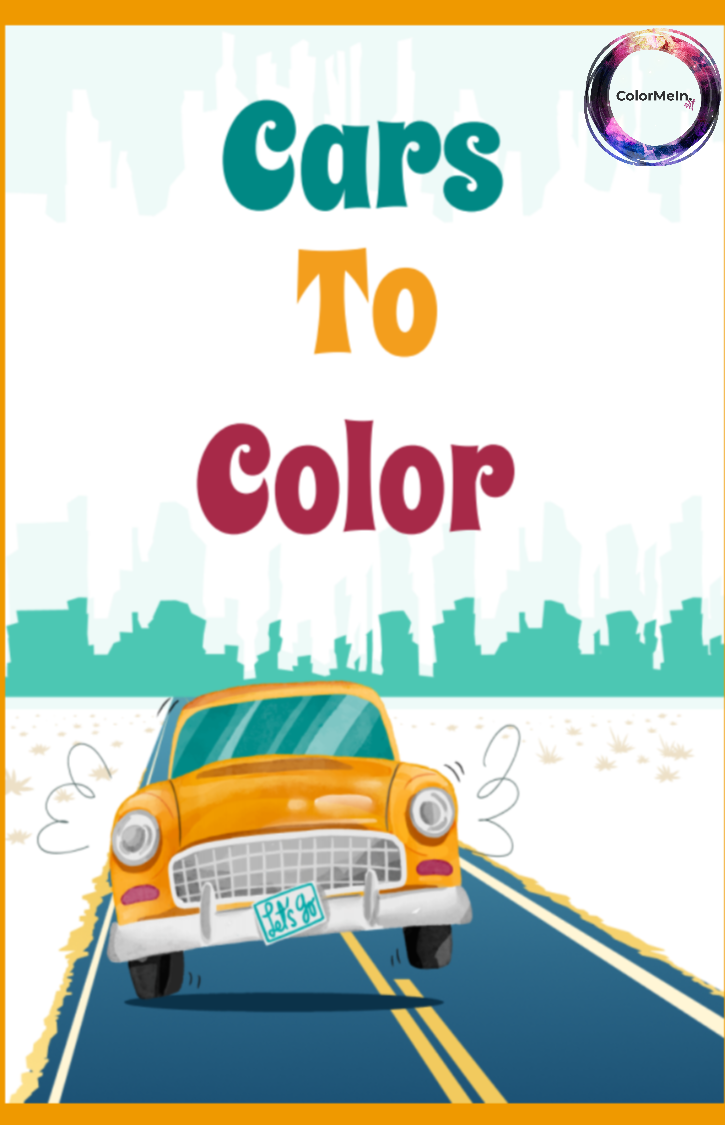 Cars to Color Coloring Book