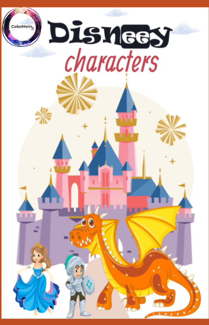 Disneey Characters Coloring Book