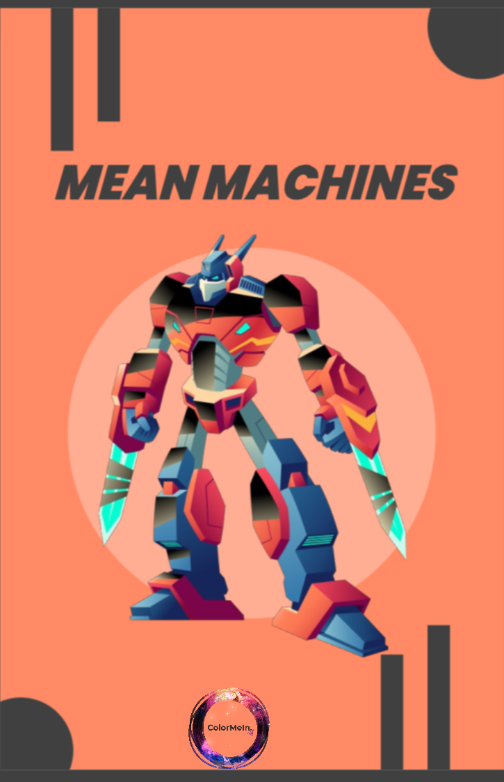 Mean Machines Coloring Book