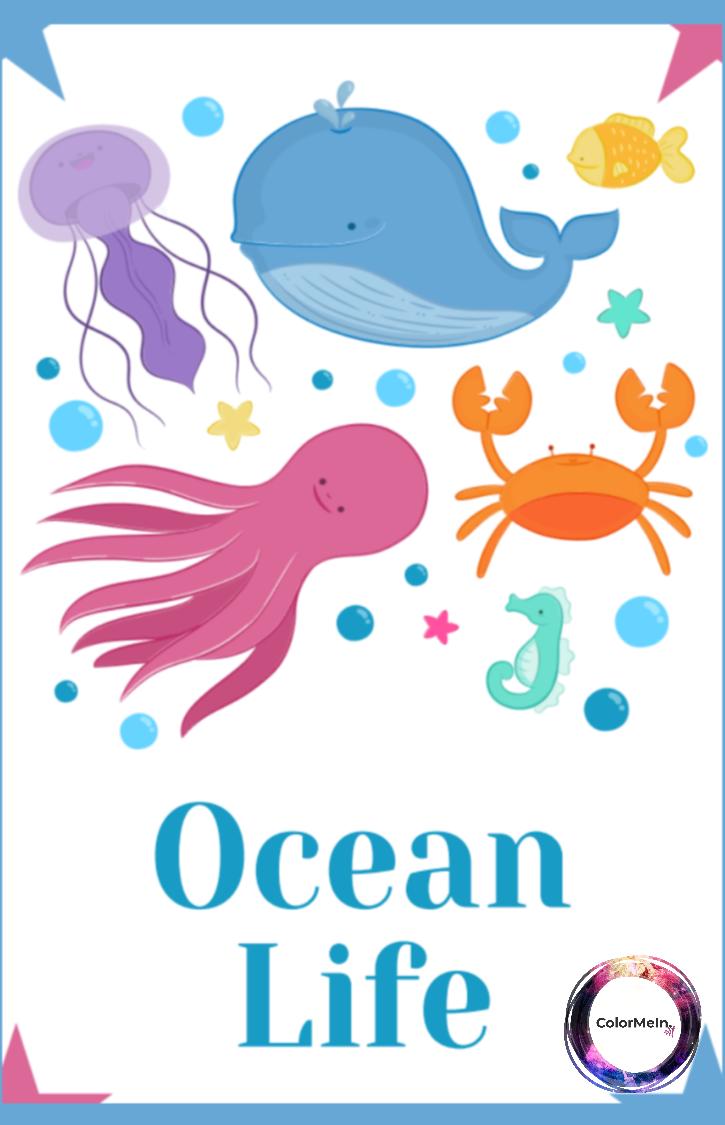 Ocean Life Coloring Book