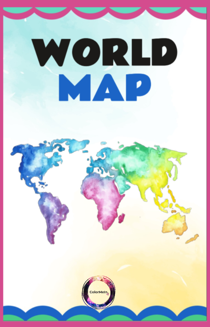 World Map Coloring Book