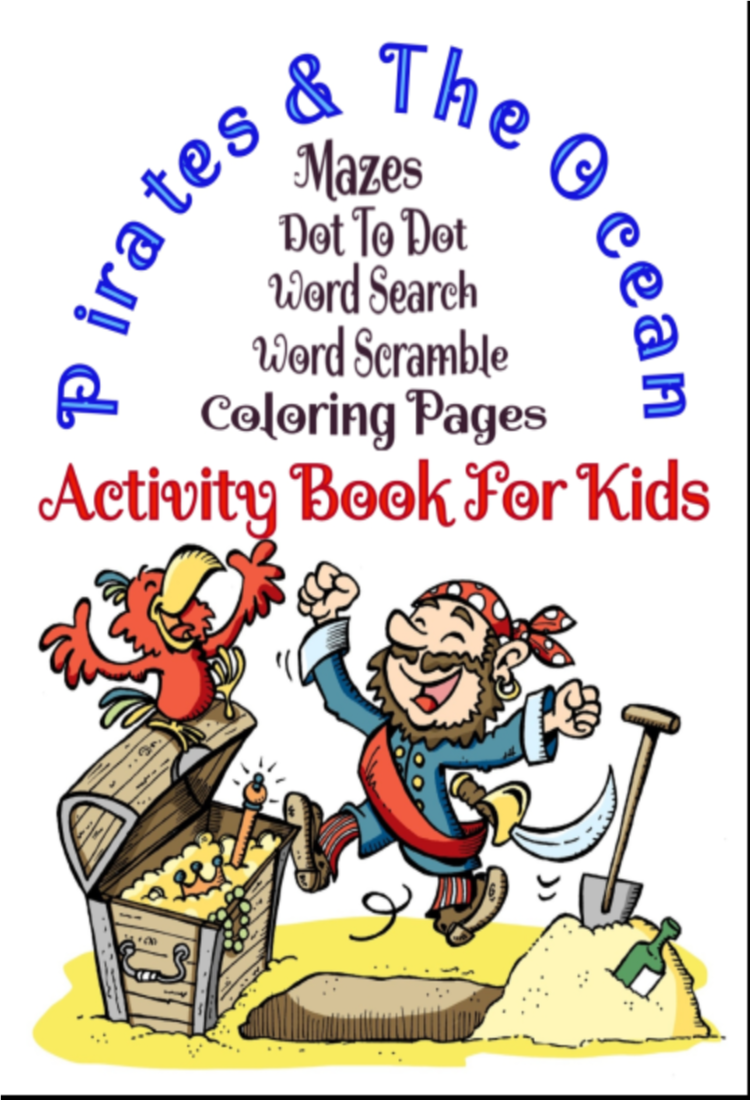 Pirates & The Ocean Activity Book For Kids